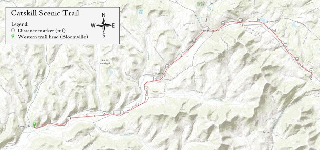 Map of Catskill Scenic Trail