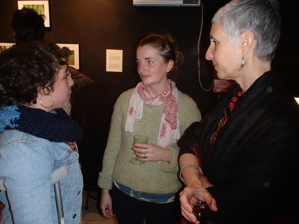 Left to right- Resident artists Colette Aliman + Sarah B Peck + Catherine Tutter