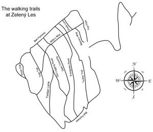 Zeleny Les Trail Map